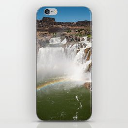 Double Rainbow at Shoshone Falls in Idaho iPhone Skin
