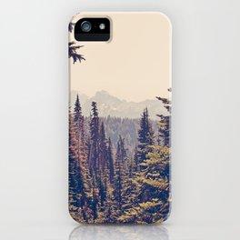 Mountains through the Trees iPhone Case
