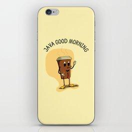 Java Good Morning - Coffee (Earth 1084) iPhone Skin
