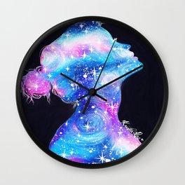 Galaxy Girl Wall Clock