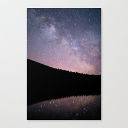 Milky Way over Two Jack Lake, Banff Canvas Print