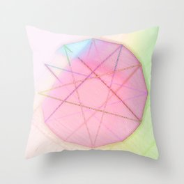 modulo 12 bright Throw Pillow
