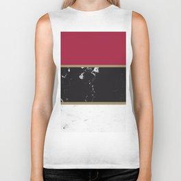 Marble Mix Stripes #2 #black #white #red #gold #decor #art #society6 Biker Tank