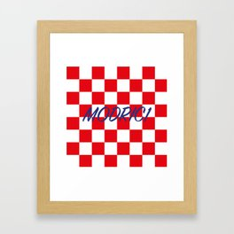Lukas Modric number one Framed Art Print