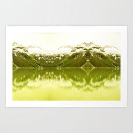 Mountain lake tranquility Art Print