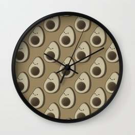 Vintage Style Avocado Pattern Wall Clock