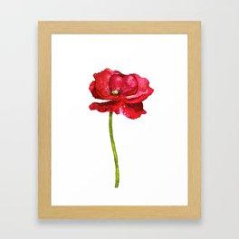 Ink Poppy Painting (Original Artwork) Framed Art Print