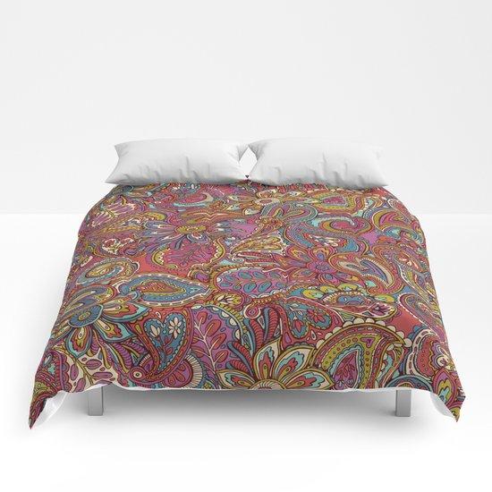 Valentines Paisley Comforters