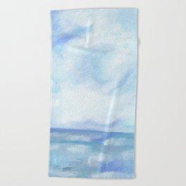 Warm Fall Days - Tropical Ocean Seascape Beach Towel