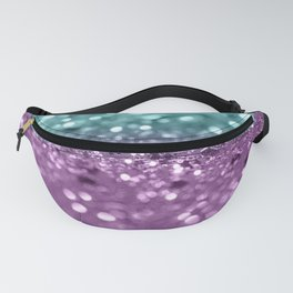 Aqua Purple MERMAID Girls Glitter #2 #shiny #decor #art #society6 Fanny Pack