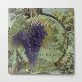 Wines of France Merlot Metal Print
