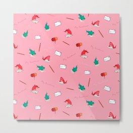 Pink Shark and Whale Shark Metal Print