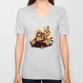 Lucca and Robo Unisex V-Neck