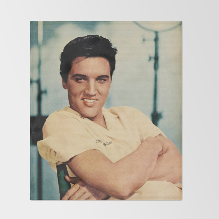 ELVIS PRESLEY - COLOURIZED - 1958 Throw Blanket by bizarrojerry ...