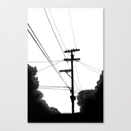 Power Lines at the bluff Canvas Print
