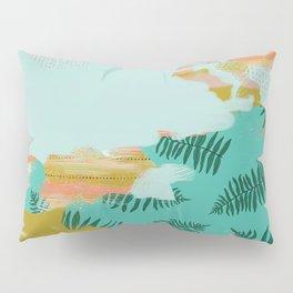 Seafoam Fern Collage Pillow Sham