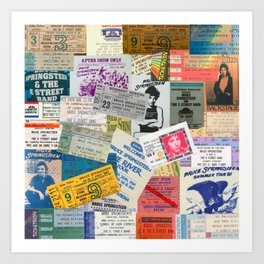 Concert Ticket Stub Backstage Passes - The Boss Art Print