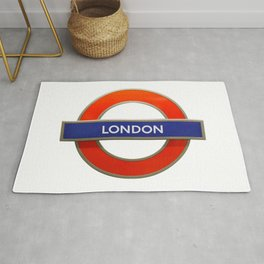 London Underground Sign Rug