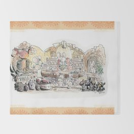 Thumbelina's house! Throw Blanket