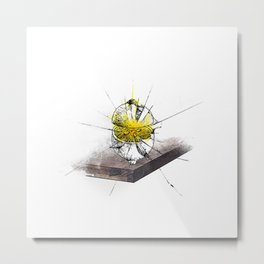 Drawn Lemon Metal Print