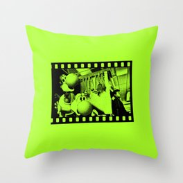 Clever Yoshis Throw Pillow