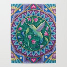 Hummingbird Mandala Poster