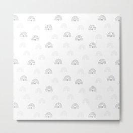 Light Grey Minimal Rainbow Monochrome Hand-Drawn Seamless Pattern Metal Print