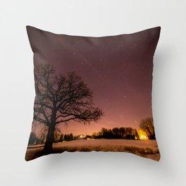 Oak in Field Throw Pillow