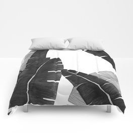 Banana Leaves BW Comforters