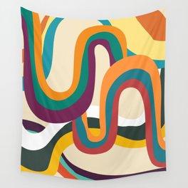 Groovy rainbow of doom Wall Tapestry