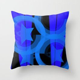Blue stars and stripes Throw Pillow
