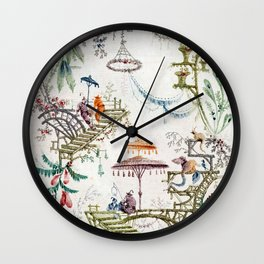 Enchanted Forest Chinoiserie Wall Clock