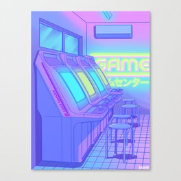 Midnight Arcade Canvas Print