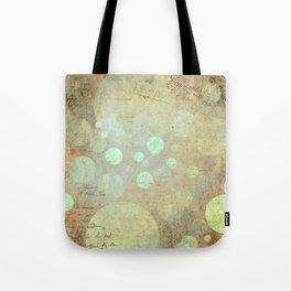 Goldy Mint Bubbles | Minimalist | Abstract | Modern | Shapes | Geometrix Tote Bag