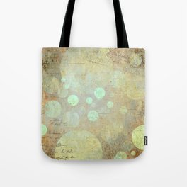 Goldy Mint Bubbles | Minimalist | Abstract | Modern | Shapes | Geometrix Tote Bag
