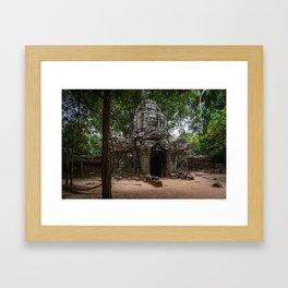 Ta Som Temple Ruins Framed Art Print