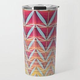 From pink to yellow pattern Travel Mug