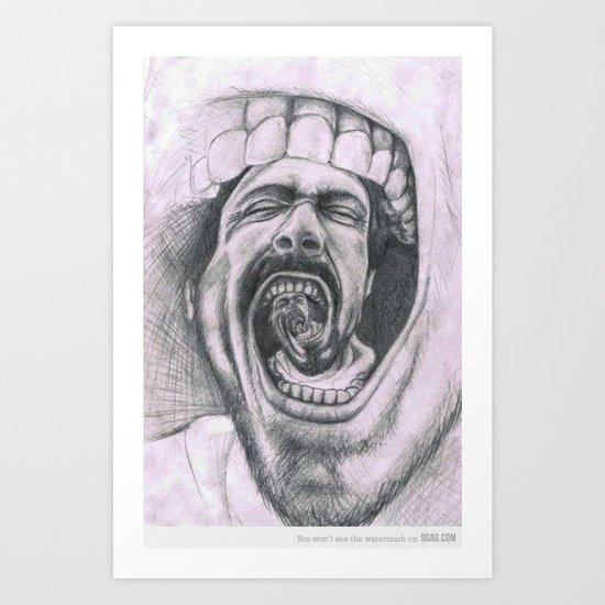 Mouthh Art Print