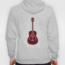 Acoustic Guitar With A Scroll Design Hoody