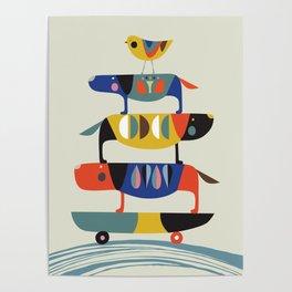 Skate dog Poster