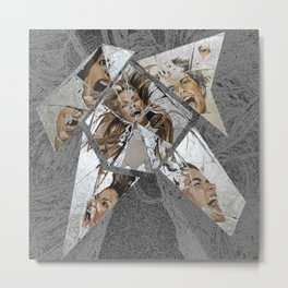 Happiness Shattered Metal Print