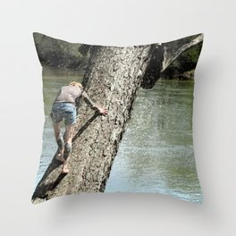 The climb revisited Throw Pillow