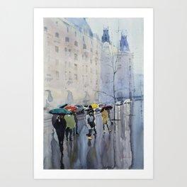 Plaze de las Cortes Art Print