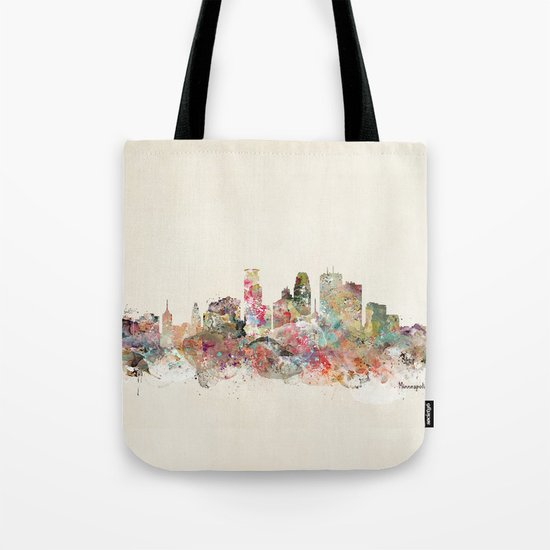 minneapolis city skyline Tote Bag