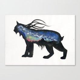 Aurora Milky Way Lynx. Canvas Print