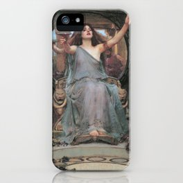 Circe Offering the Cup to Odysseus by John William Waterhouse iPhone Case