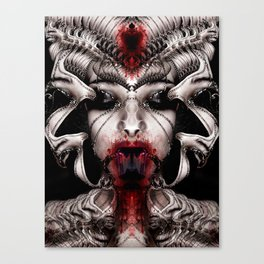 Cyber Snowhite Canvas Print