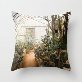 Desert Cactus and Succulent Garden, Palm Springs Throw Pillow