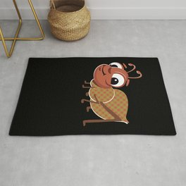Drawing of an Ant with Clothes for Drawing lovers Rug