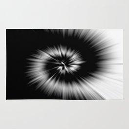 TIE DYE #1 (Black & White) Rug